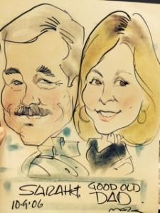Sarah caricature