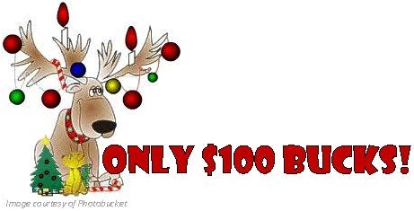 Only $100 bucks