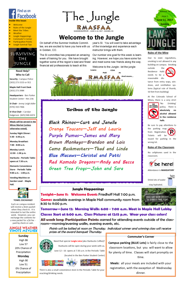 Sunday Jungle News