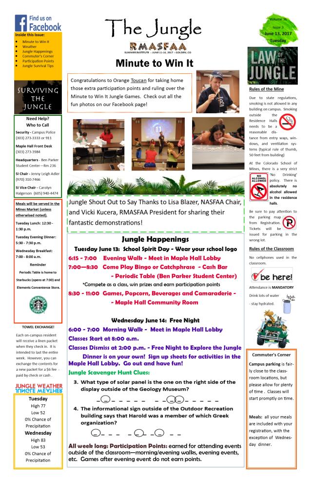 Tuesday Jungle News